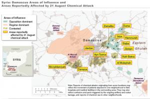 Karte von Damaskus zum Chemiewaffeneinsatz am 21.8.2013 (Bild: US-Regierung)