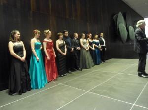 Junge Gesangstalente bei der Preisverleihung (Bild: Volkmar Schlutter)